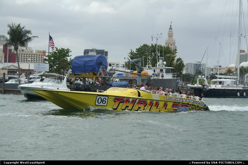 Picture by WestCoastSpirit: Miami Florida   boat, beach, speed, trhill