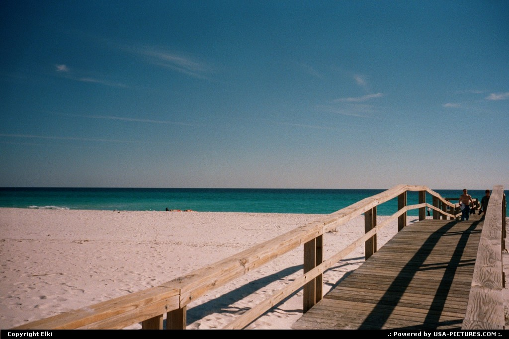 Picture by elki:PensacolaFloridabeach, sand, white sand