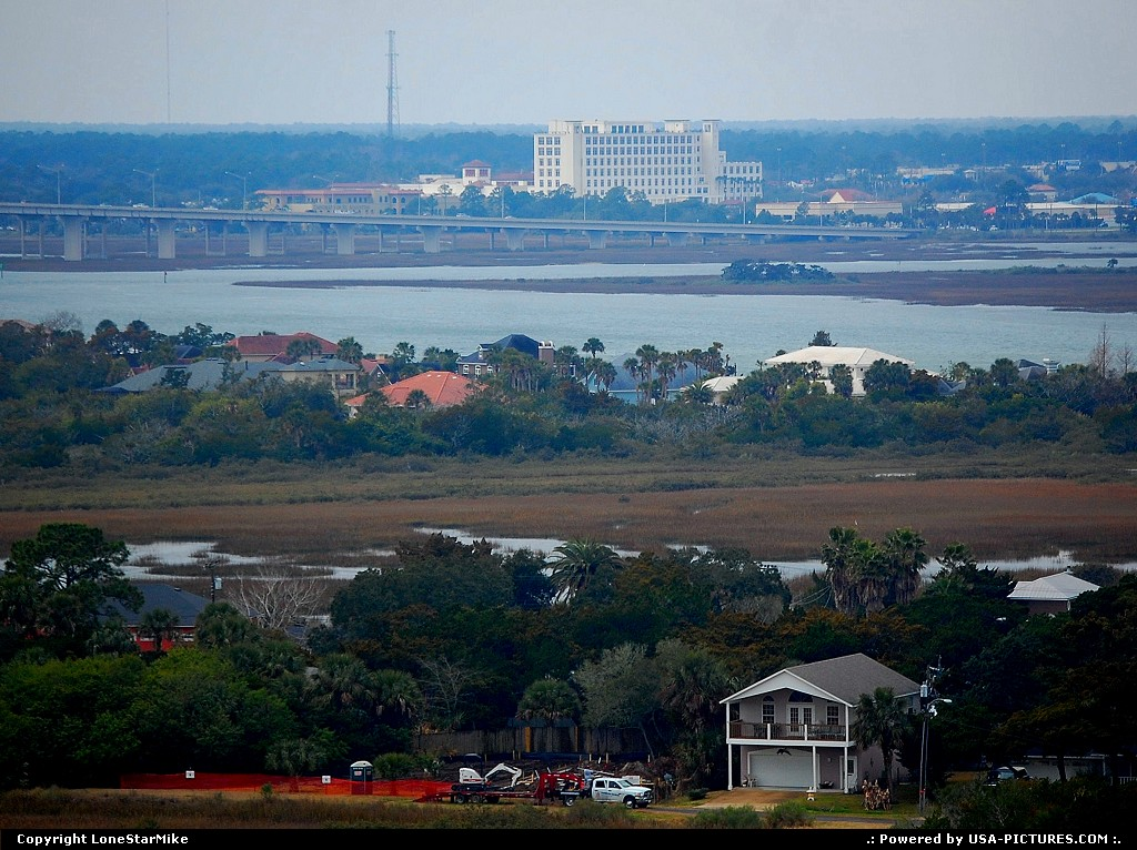 Picture by LoneStarMike:Saint AugustineFloridahome, waterfront, lighthouse, aerial