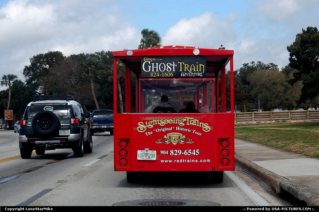 Picture by LoneStarMike: Saint Augustine Florida   trolley