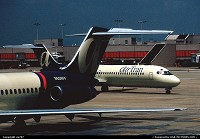 Atlanta : Air Tran at home but both still then in the first livery and operating Douglas DC.9-30s as its workhorses.