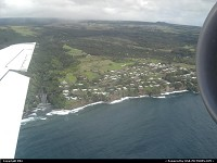 Arriving in Big Island, almost in Hilo