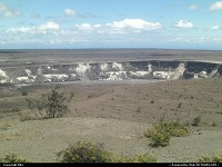 Hawaii Volcanoes national park: Crater within the park