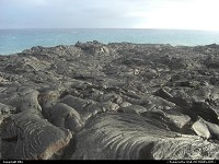 Photo by elki |  Hawaii Volcanoes lava, sea