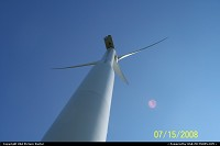 Iowa, Wind Turbine against the blue sky