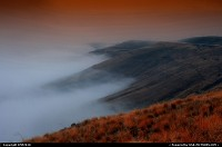 Photo by DMP2010 | Lewiston  mountain,fog,hills,brush,warm