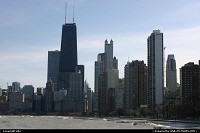 Chicago Skyline from North beaches