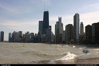 Illinois, Skyline chicago from north beaches