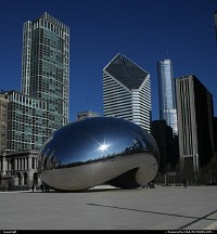 Illinois, No, the picture is not photoshoped! The famous Cloud Gate, aka