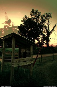 Illinois, Old telephone booth by the lake. Had a beautiful sunset behind it creating an awesome shot.