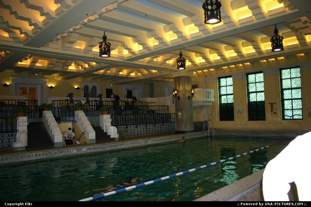 Picture by elki: Chicago Illinois   historical building, pool