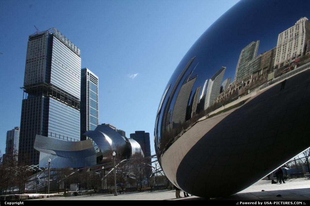 Picture by WestCoastSpirit: Chicago Illinois   art, modern, skyline, skyscraper, bean, windy city, united