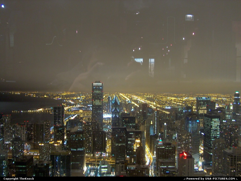 Picture by TheKnock:ChicagoIllinoisChicago at Night from John Hancock tower