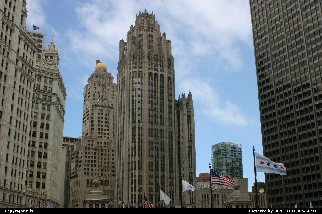 Picture by elki: Chicago Illinois   chicago tribune tower
