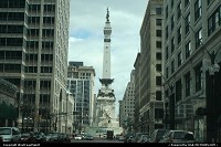 Indiana, The Soldiers' and Sailors' Monument in downtown Indianapolis. It is 284 feet (87 m) tall and hosts the Colonel Eli Lilly Civil War Museum in th basement.