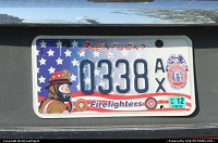 Firefighter license plate in Kentucky. You guys all have our support, congratulations!