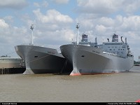 Louisiana, US NAVY ships on Mississipi river, close to New Orleans NAS