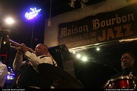 New Orleans : Dwayne Burns and his New Orleans Band, performing really nice live Jazz at Maison Bourbon Club, on Bourbon Street righ in the French Quarter. Nice!