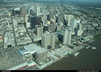 New Orleans : New orleans downtown, from sky overview