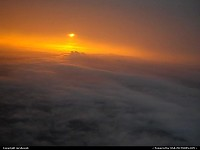Not in a City : Sunset from above the clouds