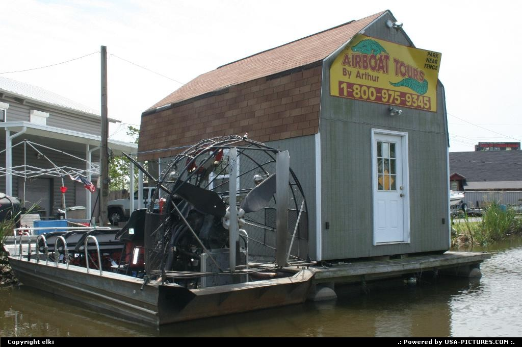 Picture by elki: Des Allemands Louisiana   airboat bayou
