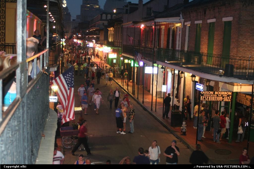 Picture by elki:New OrleansLouisianabourbon street french quarter new orleans