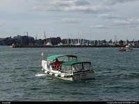 Massachusetts, Water Taxi leaving Logan Aiport, en route to downtown Boston. Your best option to reach Boston quickly! Priceless view!