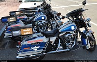 Massachusetts, Boston police, operates with legendary Harley.