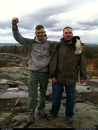 My friend and I, on top of the world... err blue hills.