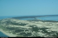 Massachusetts, View of cape code from plane