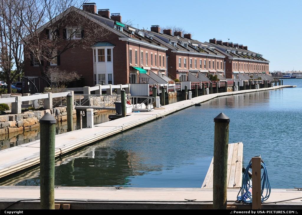 Picture by USA Picture Visitor: Boston Massachusetts   boston, houses, wharves