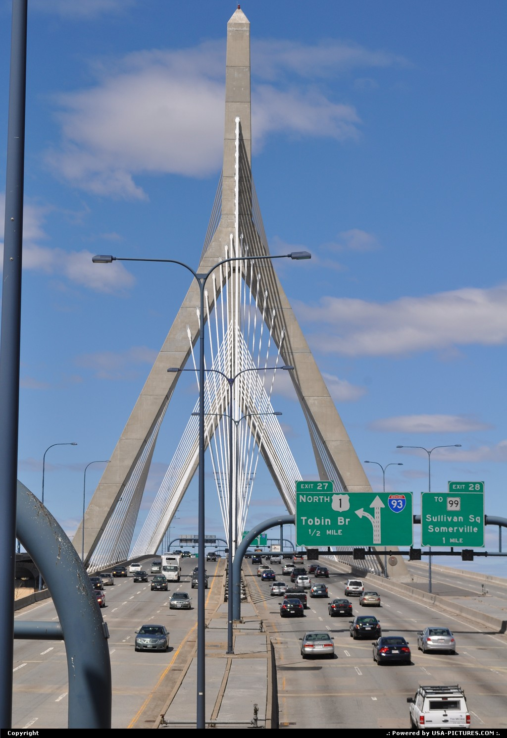 Picture by elki: Boston Massachusetts   zakim bridge boston