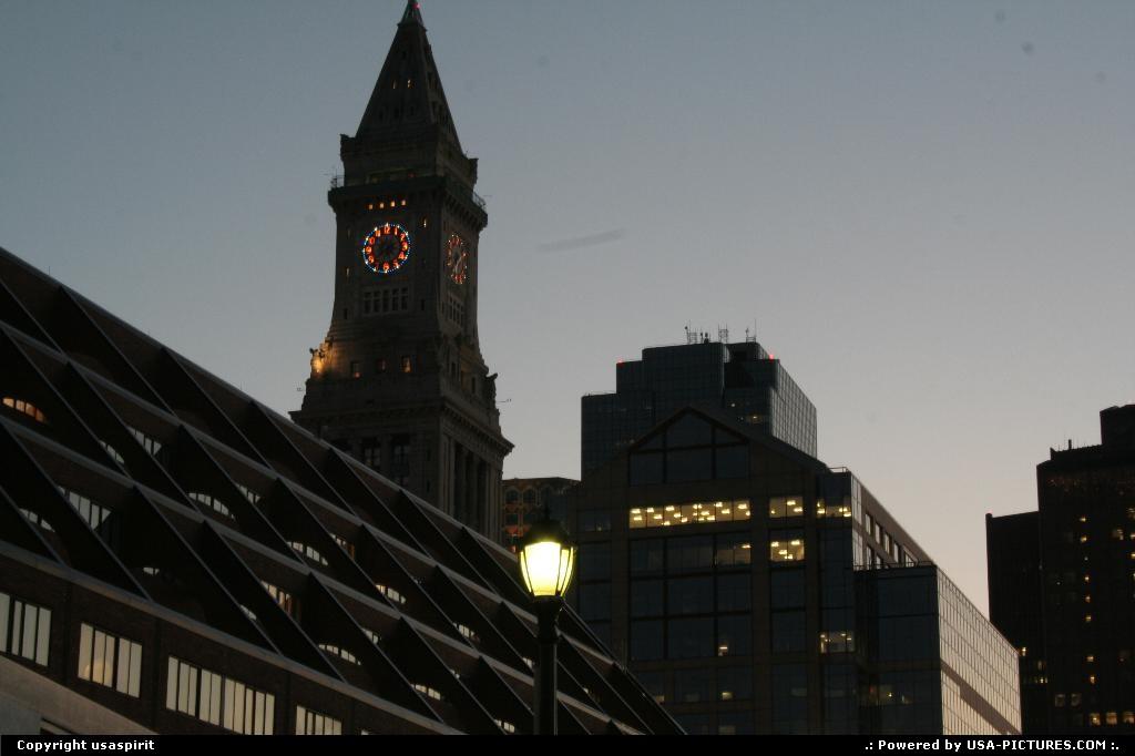Picture by usaspirit:BostonMassachusettsboston long wharf custom tower