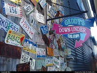 Photo by elki | Bar Harbor  licence plates, signs