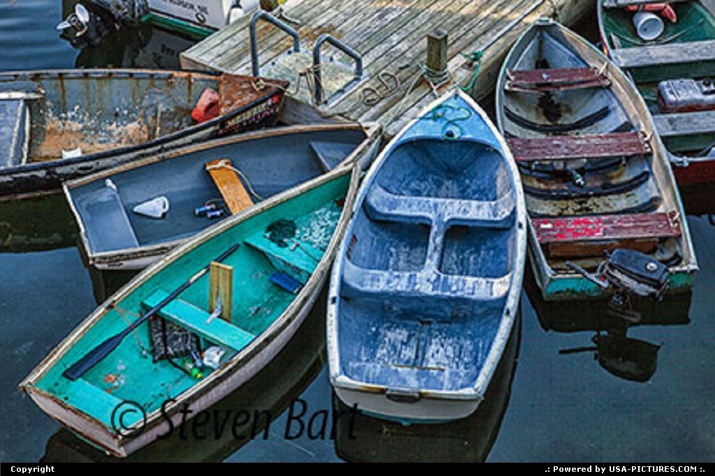 Picture by Steve Bart: Bar Harbor Maine   Dinghies