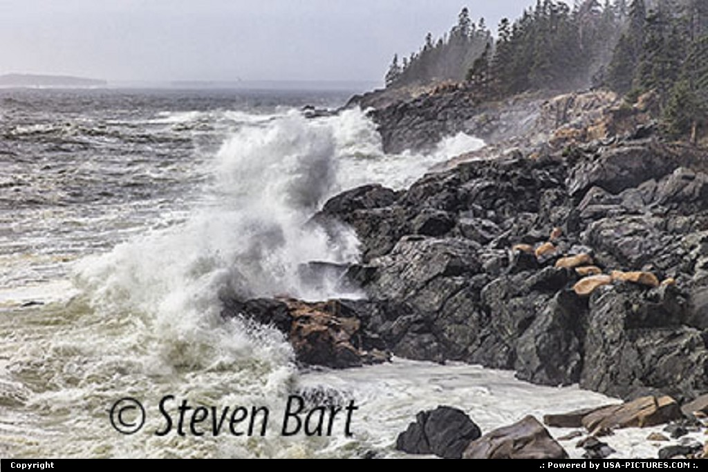 Picture by Steve Bart: Bar Harbor Maine   Hunter Beach