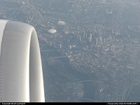 Minesota, Leaving MSP aiport, with a nice view of Minneapolis. Too bad that the weather was crap!