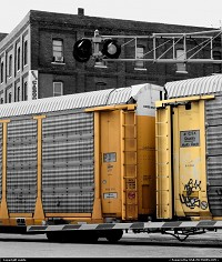 Train in the West Bottoms. Kansas City, MO