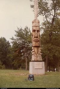 Anheuser-Busch Center's extensive park. A totem.