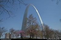 Saint Louis : Jefferson National Expansion Memorial in Saint Louis, Missouri. This amazing monument was designed by Finnish architect Eero Saarinen with the contribution of the structural engineer Hannskark Bandel back in 1947. The arch was finally built between 1963 and 1968. It is tall enough at 630 feet/192 meters and as wide as 630 feet/192 meters at base level. Legs are 54 feet/16 meters at the base yet only 17 feet/5.20 meters at the top. Believe it or not, there is a tram to carry passengers to the top, with an amazing observation deck featuring unique overview of Saint Louis. Just a marvel of engineering! Be aware: the ride to the top is done thanks to very small wagon. Avoid it if you are somewhat claustrophobic.