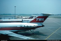 Missouri, St-Louis Lambert when TWA ruled supreme provides for the setting of this gate shot starring a Boeing 727-200 almost overshaddowing a Mc Donnell MD.80, and an ATR42 sitting on a remote stand.