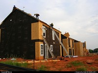 North-carolina, And carefully coated to be isolated. Houses beeing built in North Charlotte