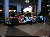 NASCAR racing is so important in North Carolina that it's not surprising to meet a this Ford Taurus inside Charlotte Douglas airport terminal !