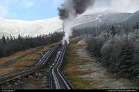 New-Hampshire, The vintage steam train, climbing Mount Washington