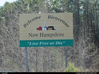 New-Hampshire, Entering New hampshire, Live free or die, this fundment is non negotiable, it is part of way of living here, since the independance.