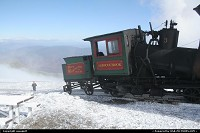 Mount washington, train stop at the top