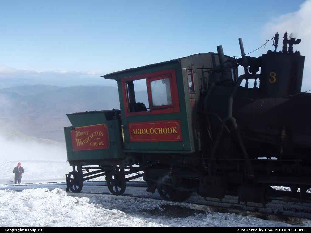 Picture by usaspirit: Not in a city New-Hampshire   Mount washington, rail way