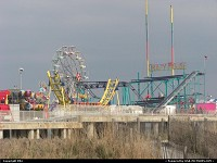 Atlantic City : Vintage Theme Park from the beach