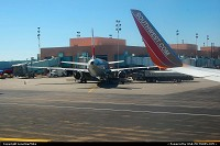 Albuquerque : ABQ - Taxiing to the gate at Albuquerque International Airport