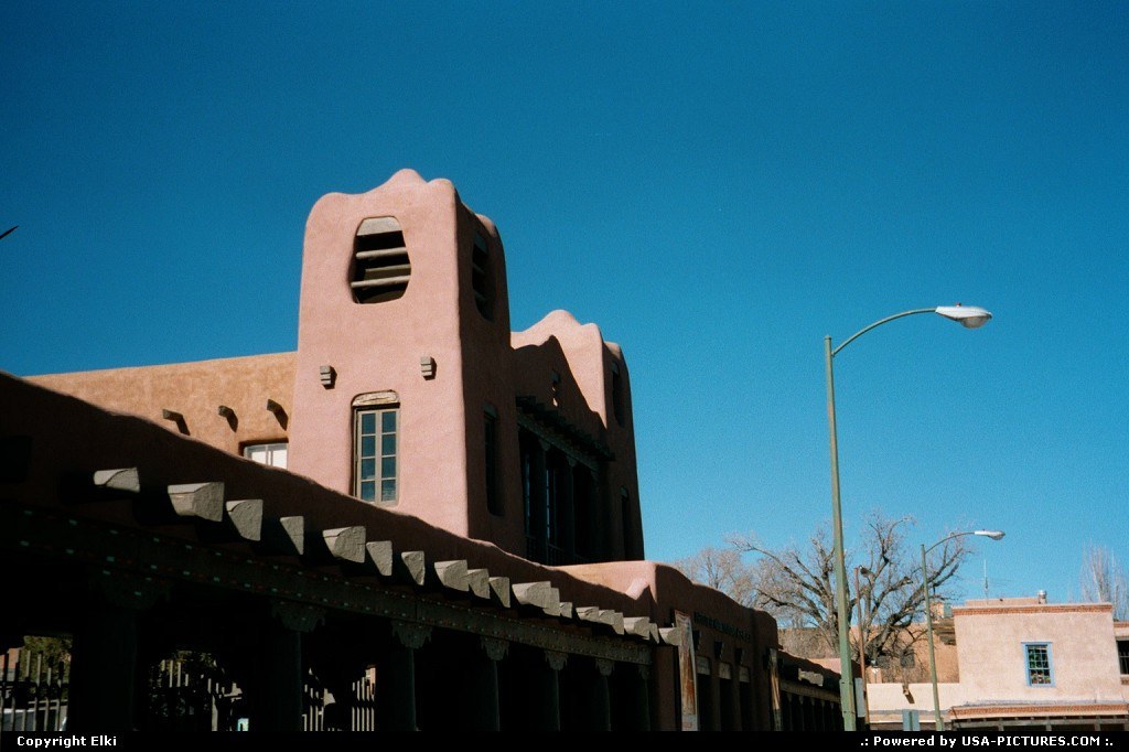 Picture by elki: Santa Fe New-mexico   adobe, downtown
